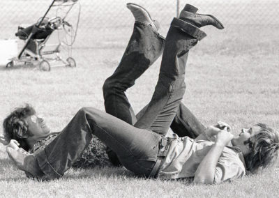 Allen Danziger (left) & William Vail (right) Leg Wrestling