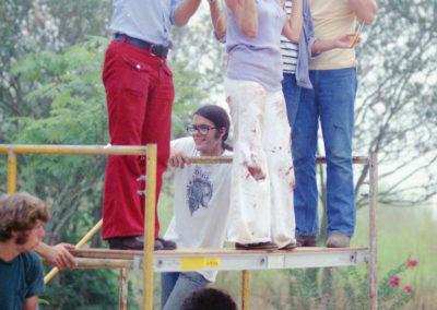 (left to right) Wayne Bell, Daniel Pearl, Lynn Sherwitz, Tobe Hooper, Marilyn Burns & Ron Bozman