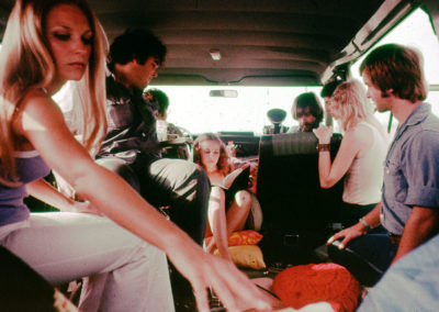 (left to right) Marilyn Burns, Paul A. Partain, Allen Danziger, Teri McMinn, Tobe Hooper, Dottie Pearl & William Vail
