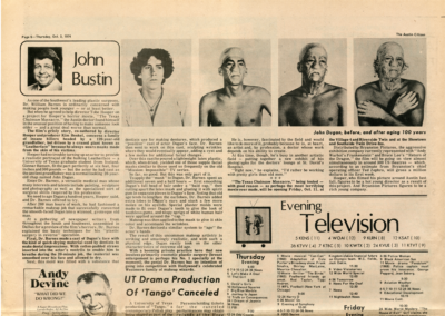 Austin Citizen-Oct 3-1974-John Bustin-John Dugan Before And After Aging 100 Years