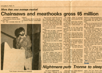 Excalibur March 27-1975-Chainsaws and Meathooks Gross $5 Million